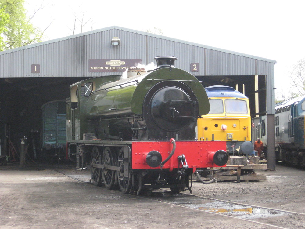 Missing its dome cover, 'Austerity' 0-6-0ST No. 2766 steams for the first time in preservation in the yard at the Bodmin & Wenford Railway on April 21. PHIL HAWKE