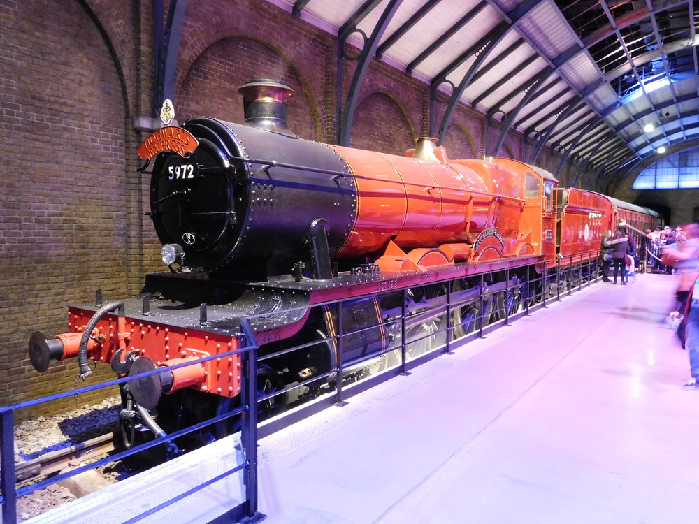 Home of the 'Hogwarts Express' - 'Hall' No. 5972  Olton Hall  currently resides inside a faithful representation of Kings Cross at the Warner Bros. Harry Potter Studio Tour at Leavesden. THOMAS BRIGHT/SR