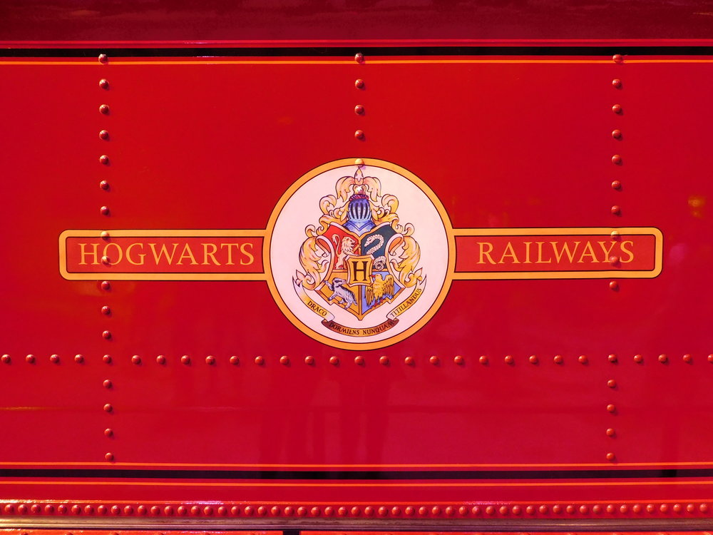 The surprisingly vintage-looking 'Hogwarts Railways' tender crest, clearly inspired by the classic BR 'ferret & dartboard'. Did you know that the film's producers originally wanted 'West Country' No. 34027  Taw Valley  to 'play' the role, but deemed it too modern? THOMAS BRIGHT/SR