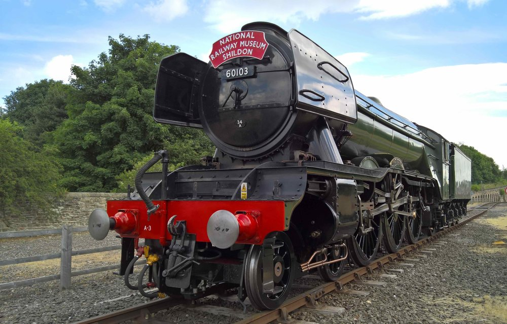 Shortly to return, 'A3' No. 60103  Flying Scotsman  is pictured at Locomotion: The NRM at Shildon in July 2016. NRM