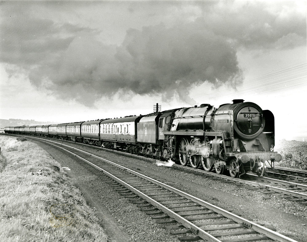 Driver Wallace Oakes was at the controls of BR '7MT' No. 70051 Firth of Forth on June 5 1965 when the locomotive suffered a severe blowback which resulted in Oakes receiving 80% burns. SR ARCHIVE