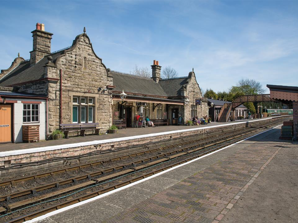 An artist's impression showing what the renovated Bridgnorth station will look like upon the completion of Phase 1 of the Bridgnorth development project. SVR