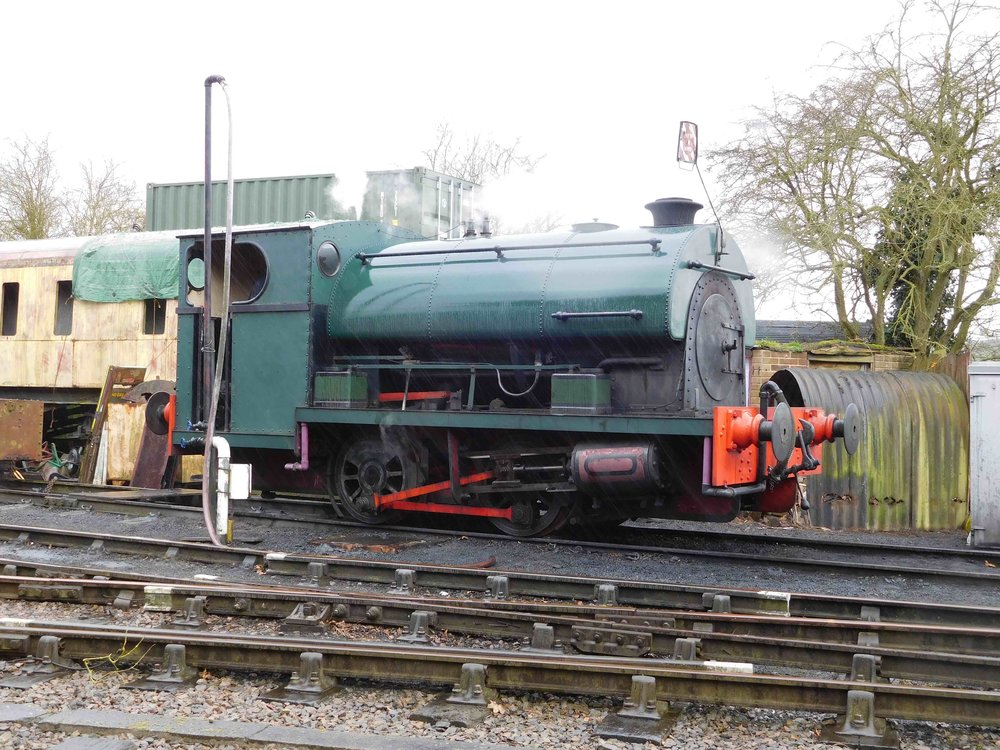 Peckett 0-4-0ST Works No. 2104 will be one Northampton & Lamport locomotive to benefit from the erection of an engine shed. THOMAS BRIGHT/SR