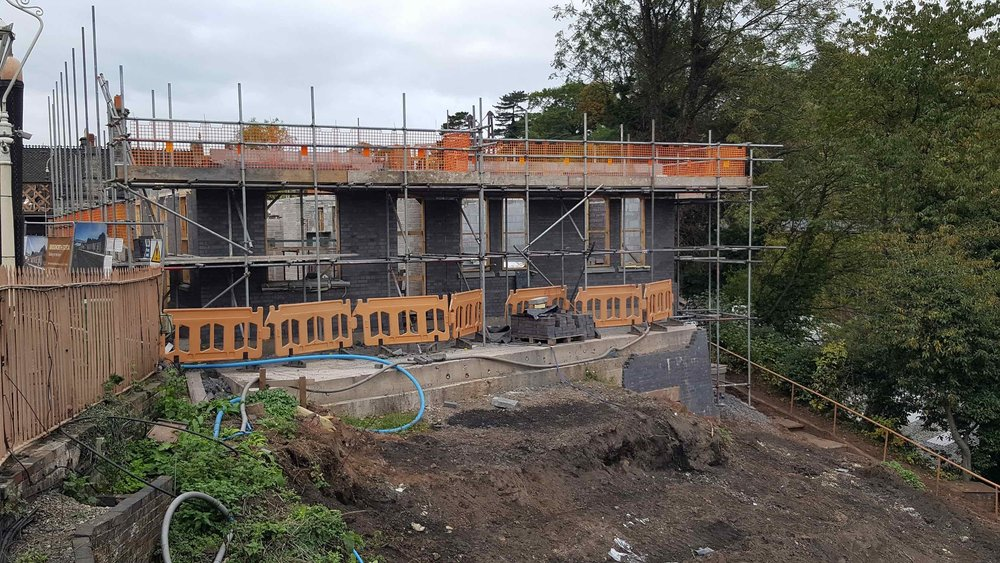 With two weeks to go before the deadline, the new station building at Bridgnorth is progressing well. SVR