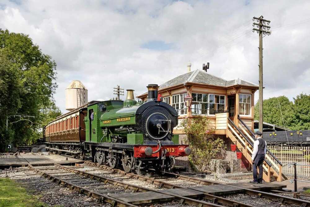 A timeless scene. Port Talbot Railway No. 813 passes the former Radstock North signal box at the Didcot Railway Centre's 'Rails to the Western Front' event on August 19/20. ALISDAIR ANDERSON