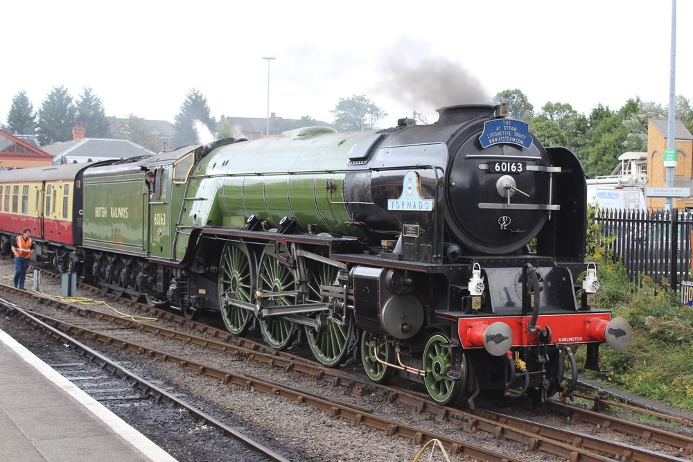 The well-travelled 'A1' No. 60163  Tornado  backs onto its support coach at Kidderminster on the Severn Valley Railway on September 12 2016. THOMAS BRIGHT/SR