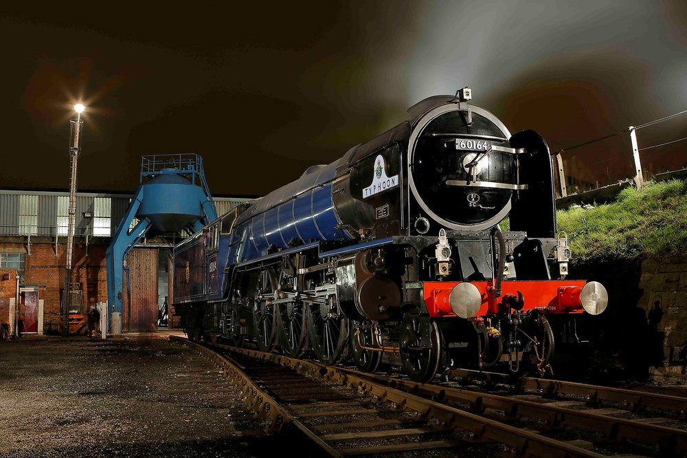 A preview of how  Tornado  will look when it assumes its new identity as No. 60164  Typhoon  in BR lined blue on April 1 2019. JACK BEESTON/ALAN CROFTY