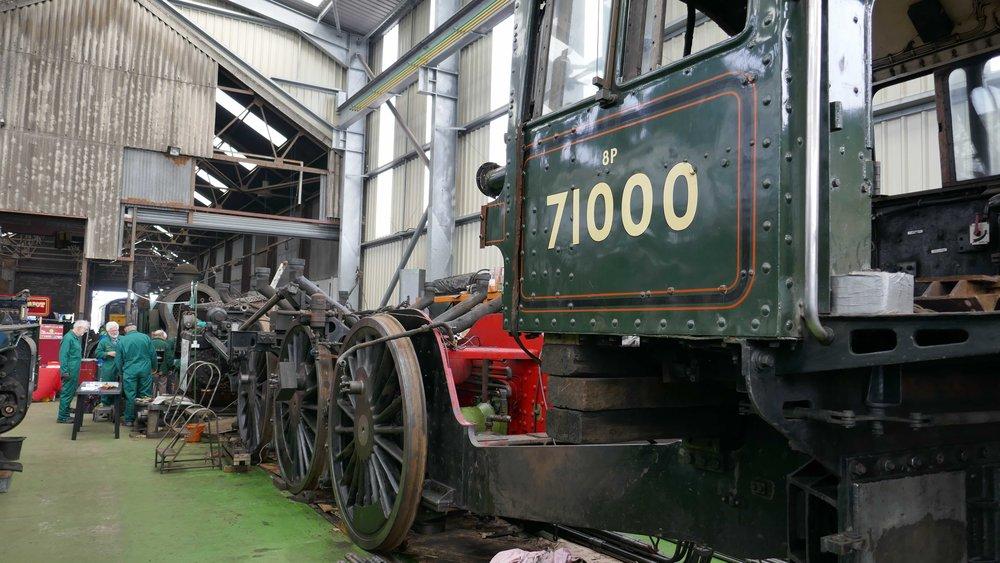 Duke of Gloucester  under overhaul at Tyseley Locomotive Works.BR CLASS 8 STEAM LOCOMOTIVE TRUST
