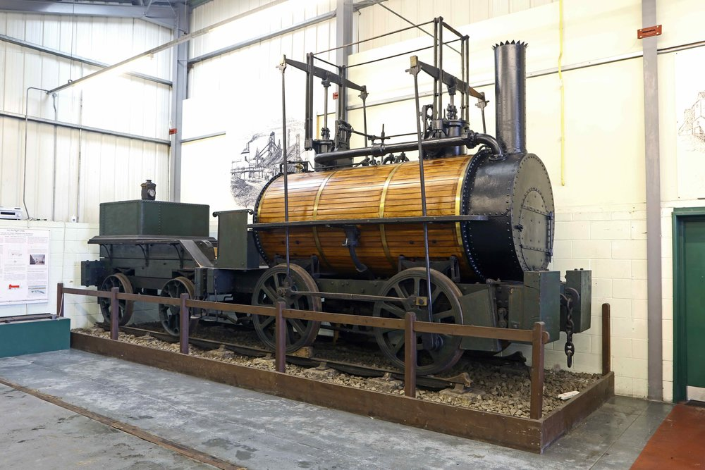 Now the world's third-oldest steam locomotive, George Stephenson's Killingworth 'Billy' on display in the Stephenson Railway Museum in North Shields, Tyne & Wear. SRM