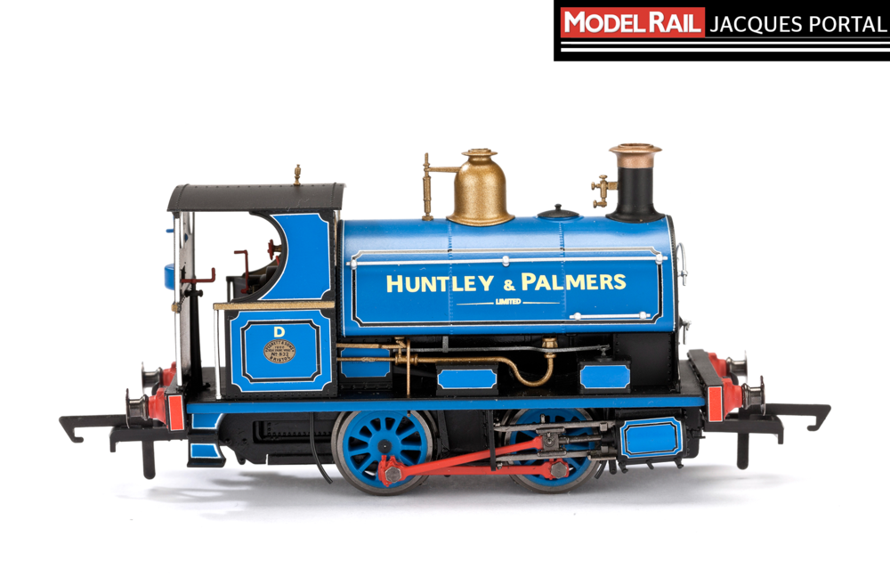 Hornby Peckett 'W4' 0-4-0ST, Huntley & Palmers blue. JACQUES PORTAL