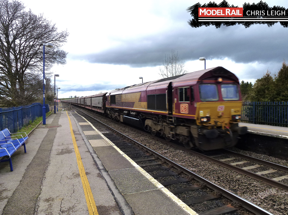 A Class 66 in EWS livery, not quite the '68' I was hoping for! CHRIS LEIGH