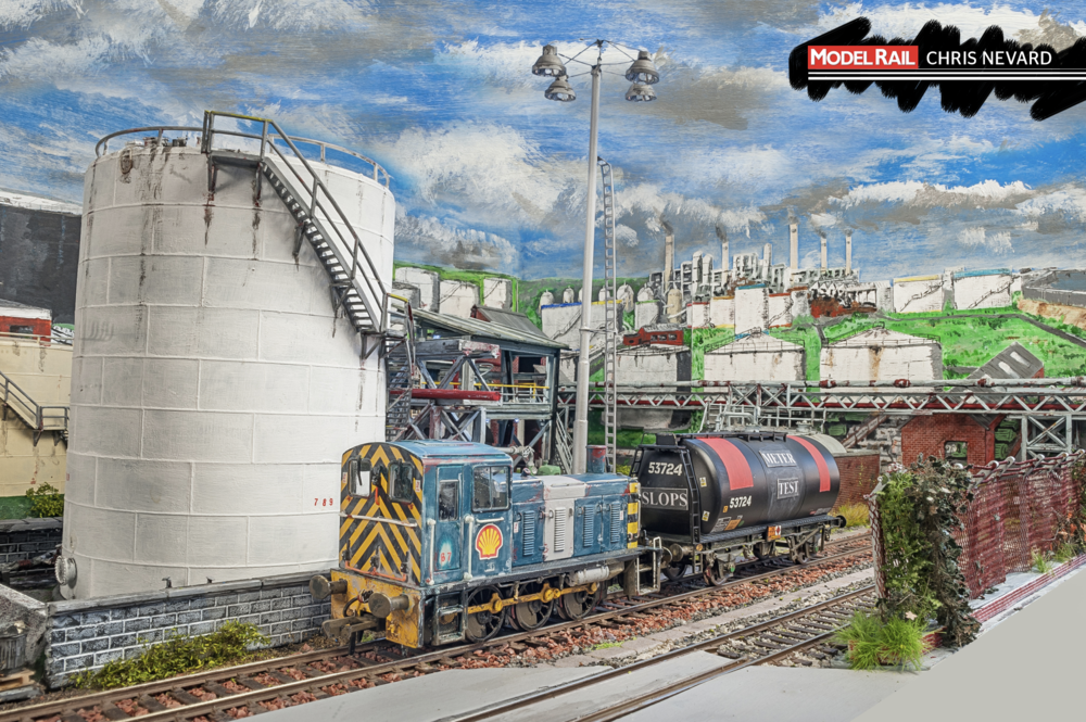 A hand-painted Bachmann Class 03 shunts a TTA tank wagon, carrying SLOPS. CHRIS NEVARD