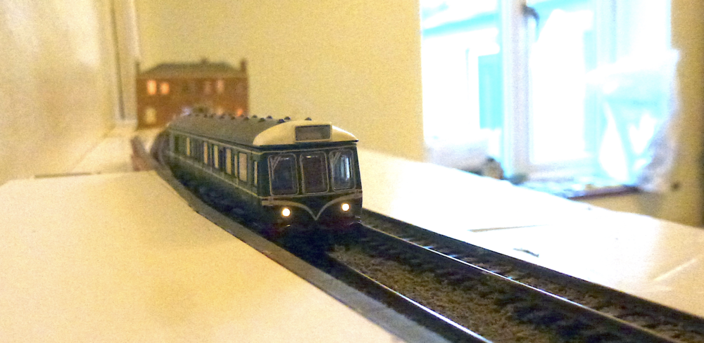 Chris' 'N' gauge 'Staines West' is making progress. CHRIS LEIGH