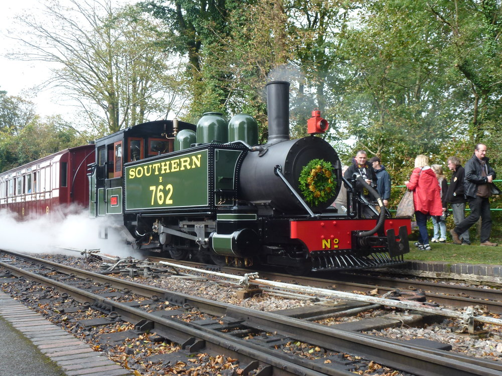 Baldwin 2-4-2T No. 762 Lyn at Woody Bay station on September 29. CHRIS LEIGH