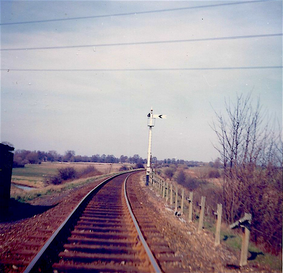 The picture I should have looked at, taken on the day the branch closed in 1965. Today, the area to the left of the railway contains the M25 motorway and a reservoir.  CHRIS LEIGH