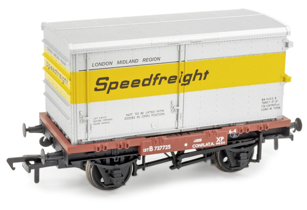 Bachmann 'Conflat' with BA container - 'OO'.jpg