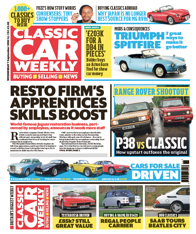 IN THIS WEEK\'S ISSUE - 7 SEPTEMBER 2016 — Classic Car Weekly