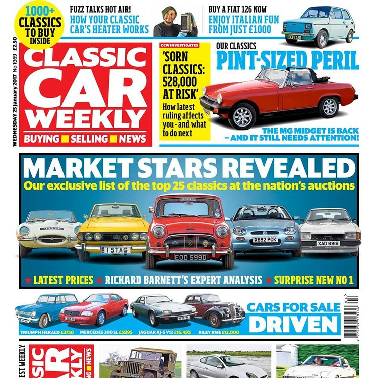 IN THIS WEEK\'S ISSUE - 25 JANUARY 2017 — Classic Car Weekly
