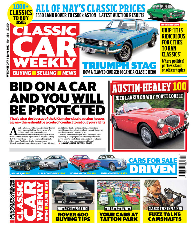 IN THIS WEEK\'S ISSUE - 7 JUNE, 2017 — Classic Car Weekly