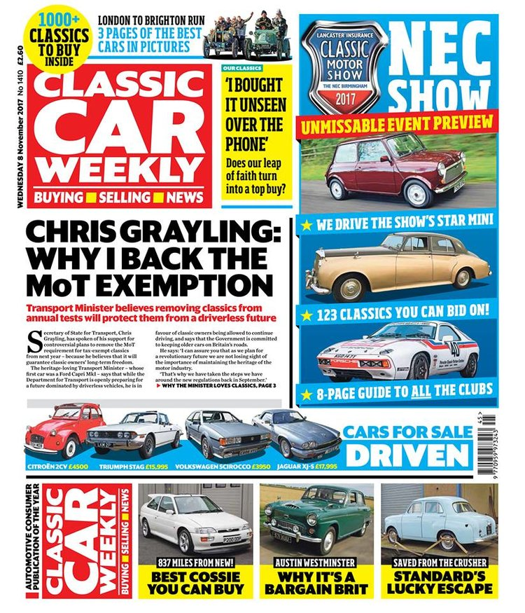 CLASSIC CAR WEEKLY 8 NOVEMBER WHAT TO LOOK FORWARD TO — Classic Car ...