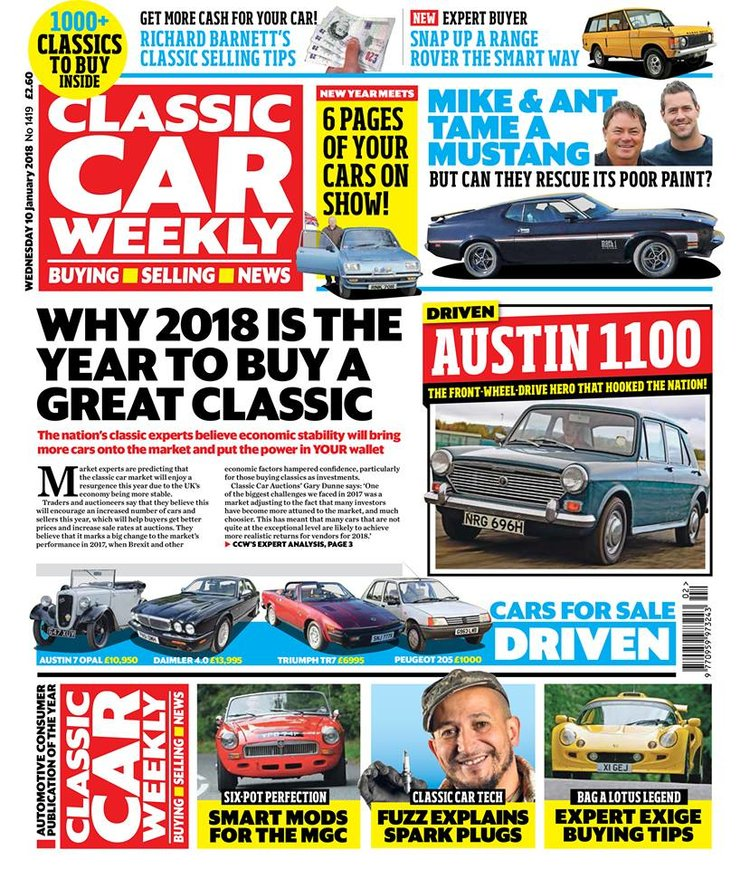 CLASSIC CAR WEEKLY 10 JANUARY - WHAT TO LOOK FORWARD TO — Classic ...