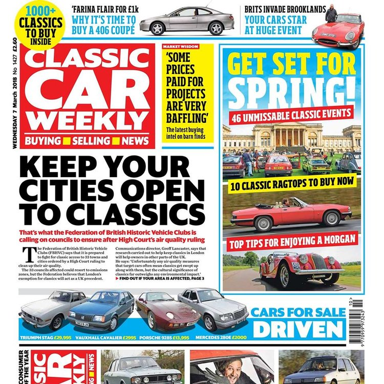 CLASSIC CAR WEEKLY 7 MARCH 2018 — Classic Car Weekly