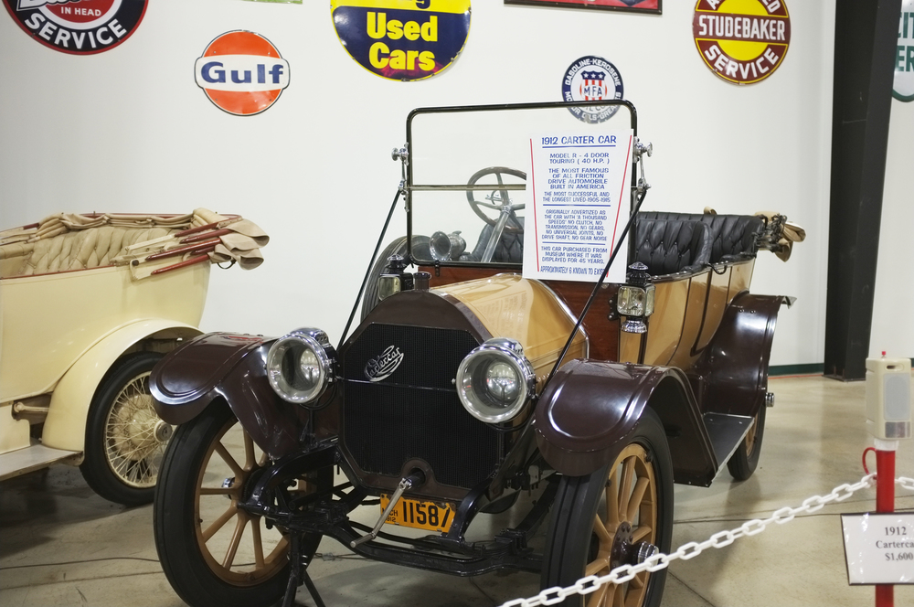 A 1912 Cartercar, one of only six surviving models, that featured friction drive.
