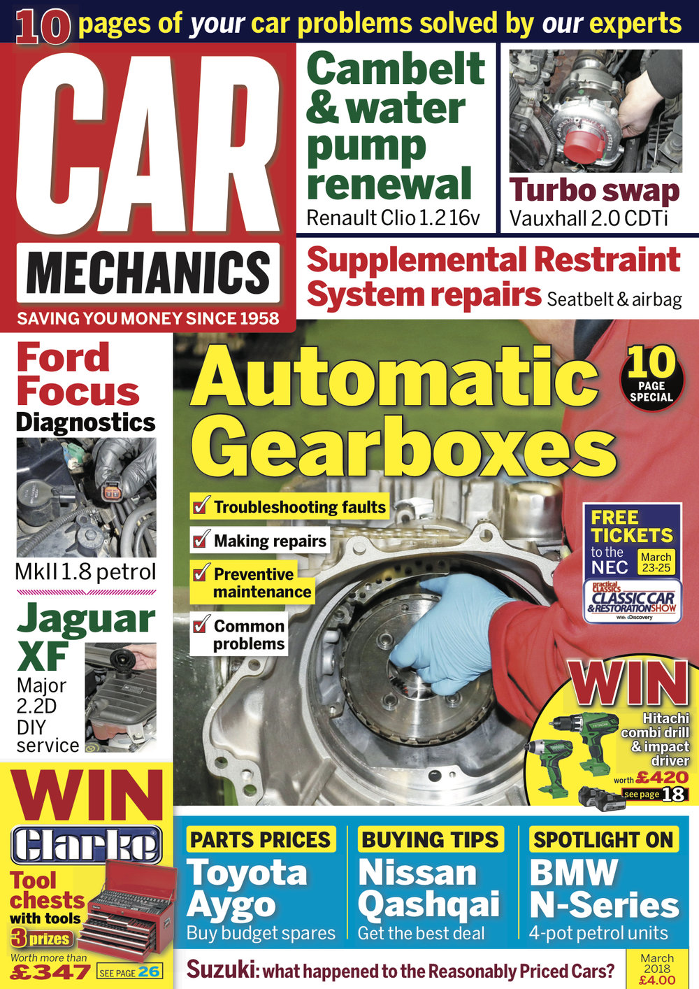 Latest Issue Car Mechanics Kia Sportage 2 0 Td Wiring Diagram Welcome To The March 2018 This Month We Take A Detailed Look At Automatic Gearboxes Including Tips On Troubleshooting Faults Preventive Maintenance