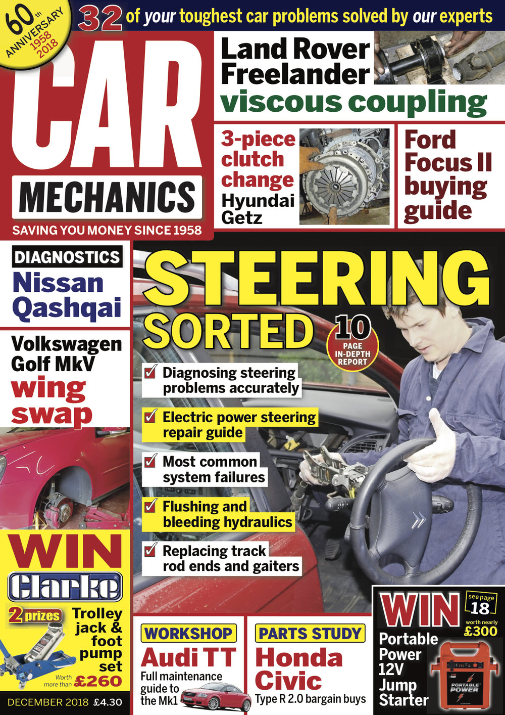 Latest Issue Car Mechanics Hyundai Getz Washer Pump Wiring Diagram This Month We Take A Detailed Look At Electrical And Hydraulic Power Steering Systems What Can Go Wrong How To Fix It