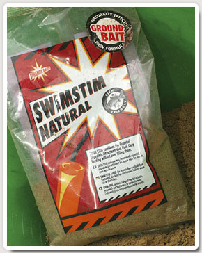 Andy uses fine-textured Dynamite Baits Swim Stim groundbait.