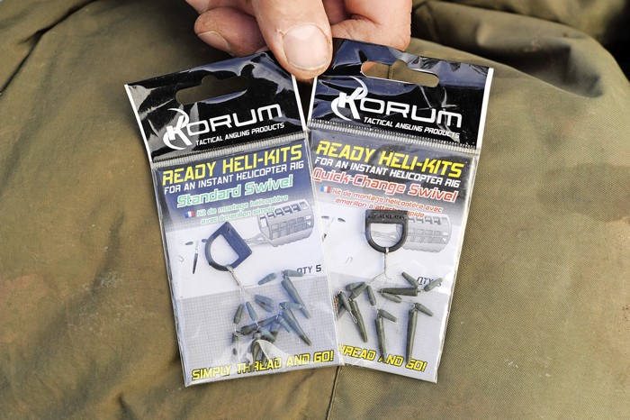 To create short helicopter rigs, Dai prefers to use Korum's Ready Heli-Kits on a fluorocarbon leader.