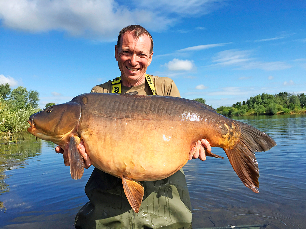 A 52lb 8oz final-day fish for Graham Peach from the Beach swim.