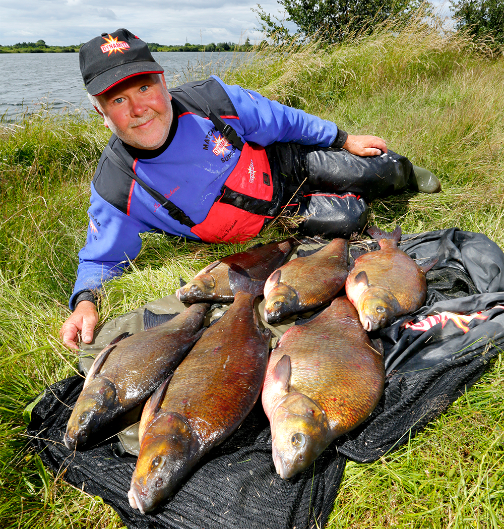 Mark with just part of his epic bream catch.