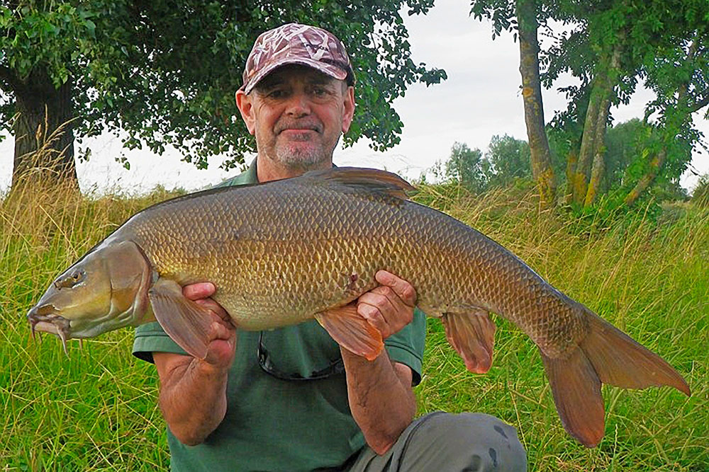 Nigel Bryans' 18lb 3oz Nene record barbel.