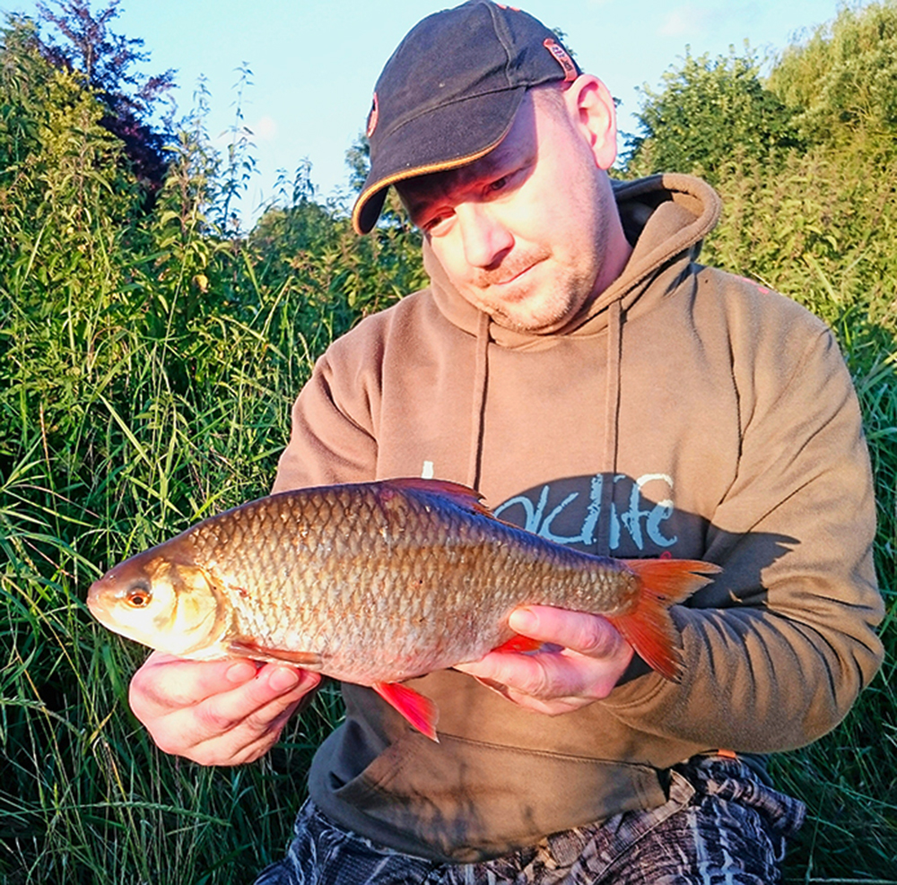 One of Stewart's pair of 2lb roach.