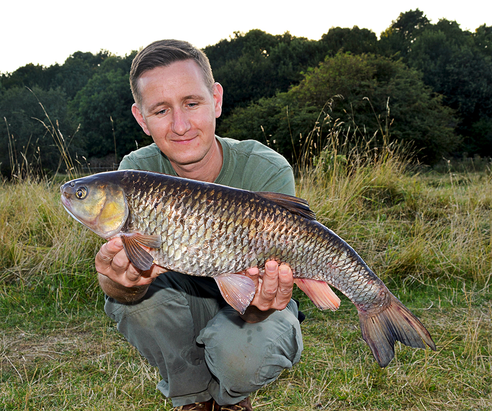 Alfie Naylor's 7lb 2oz chub from the Trent