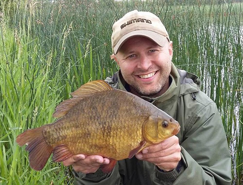 'Specimen Crucian' winner Andy Lewis.