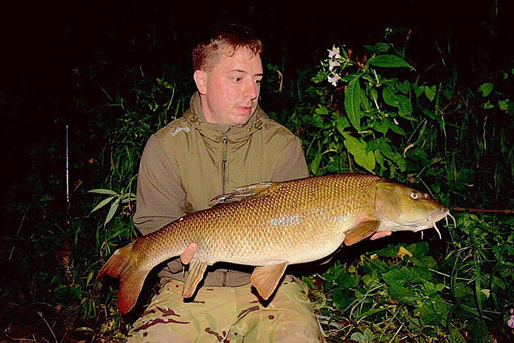 Daniel Best's 13lb 8oz fish from the Wye.