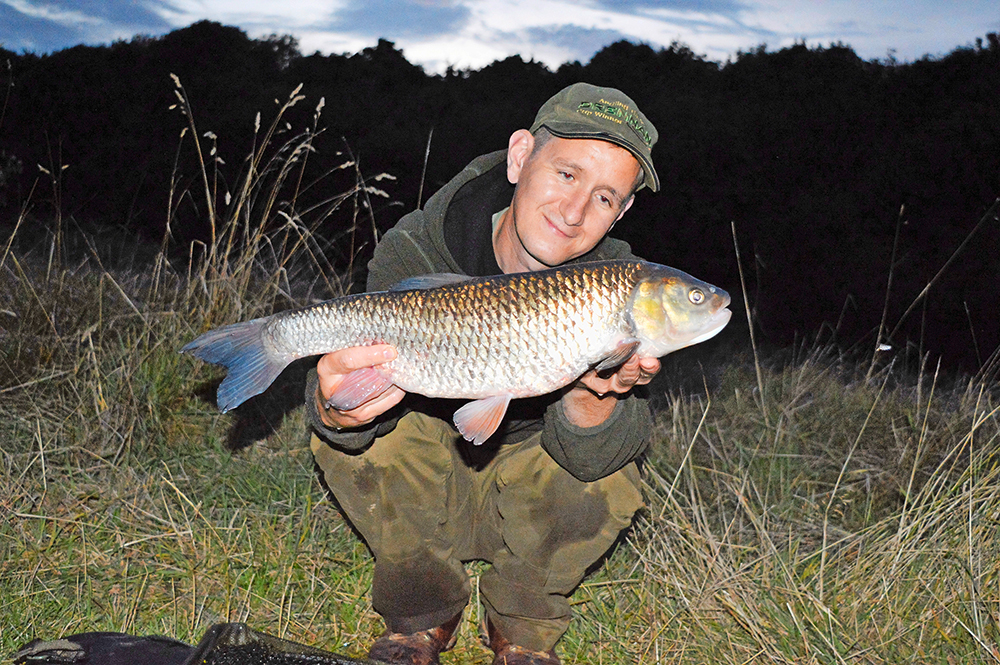 Alfie Naylor's 7lb 8oz chub from the Trent.