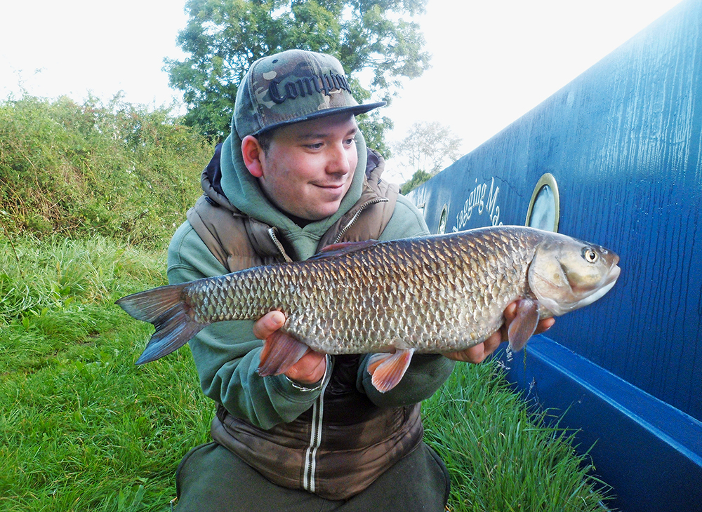 Richard Hogg's 7lb 14oz chub from a canal.