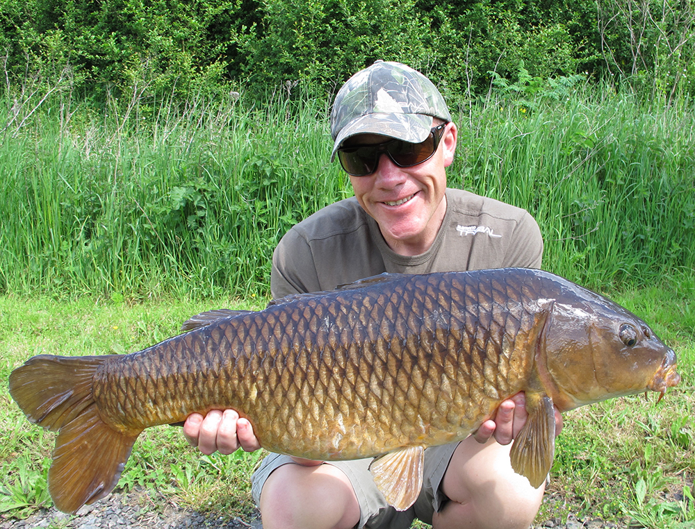 Iain Macmillan with a fine late summer common.
