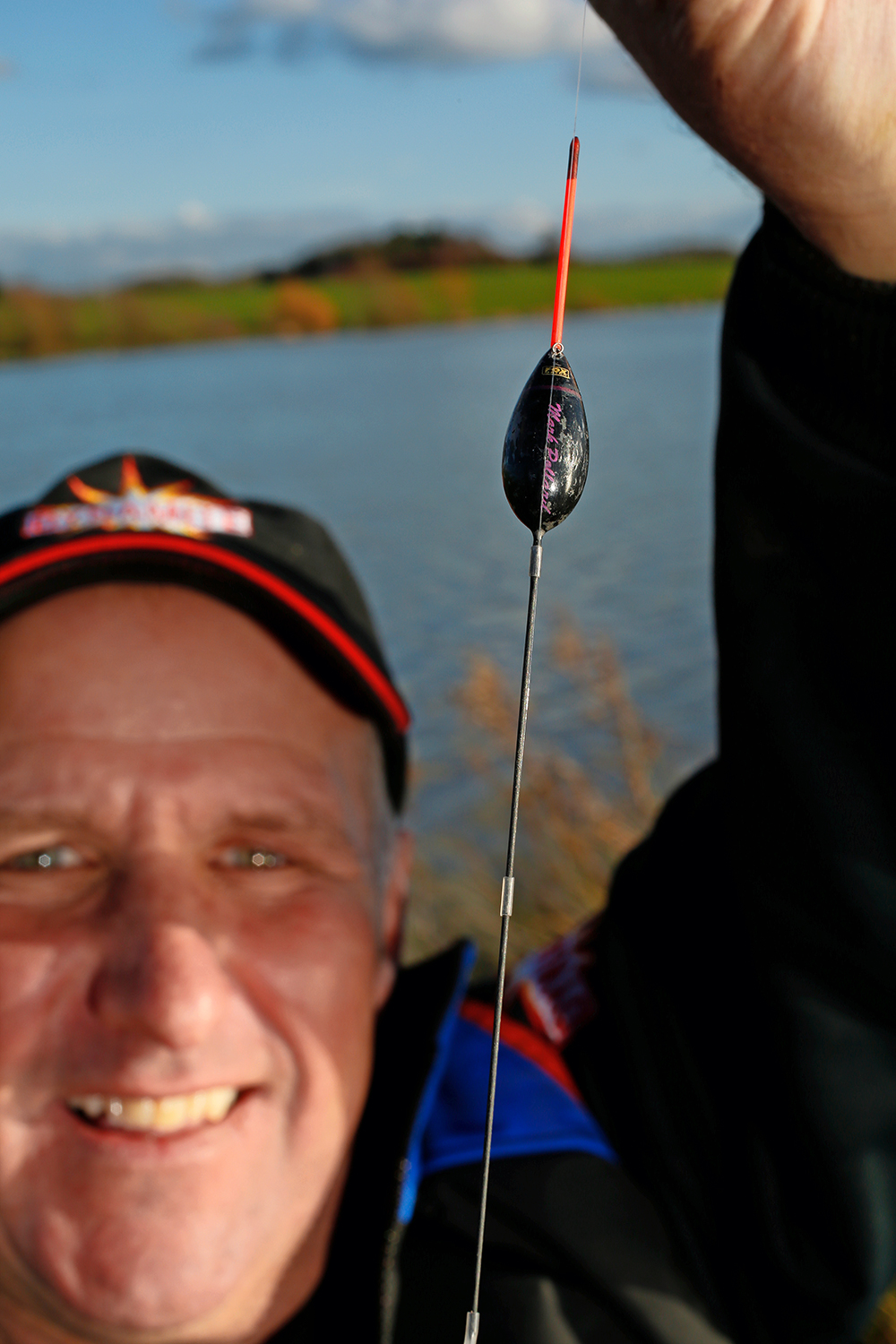 Mark chooses a heavier than normal float so he can maintain control on big, open waters