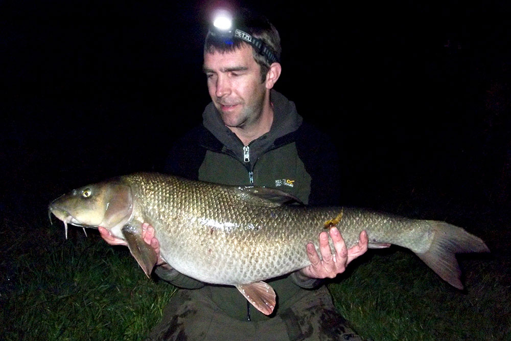 Ray Williamson and his 17lb Derwent fish.