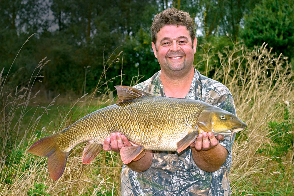 Martin Gray's 17lb 8oz barbel from the Nene.
