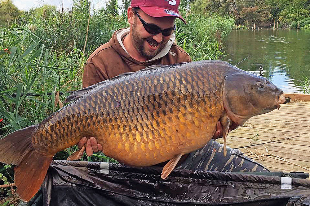 A delighted Michael and his 45lb 5oz common.