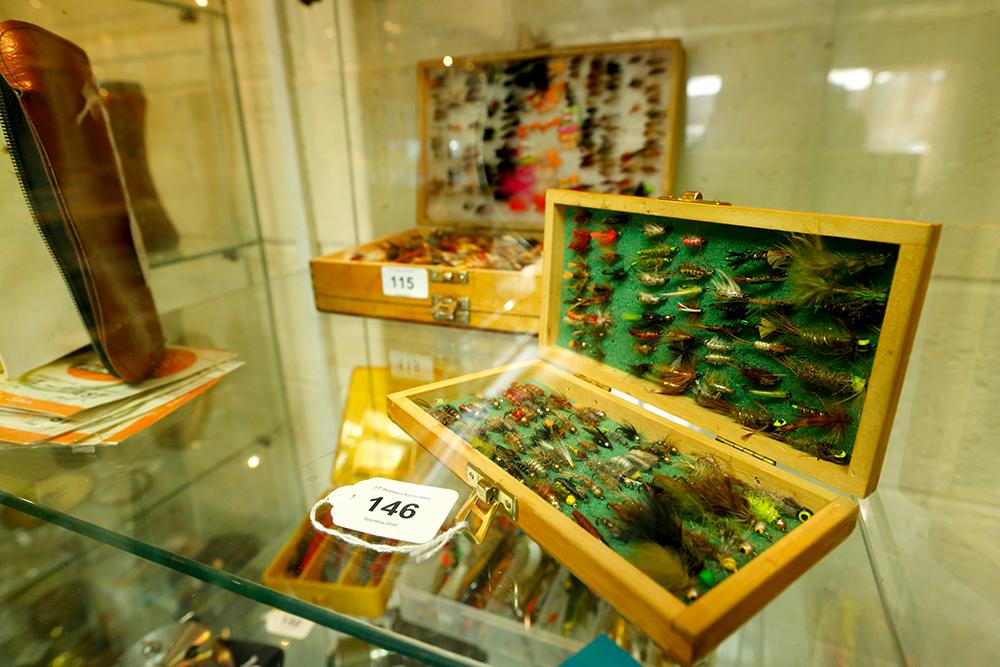 Top seller at £880 was Bob's superb fly box.