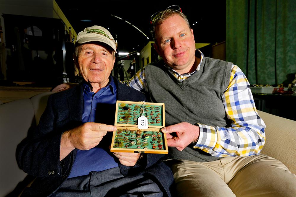 Bob Church (left) with auctioneer John Humbert.