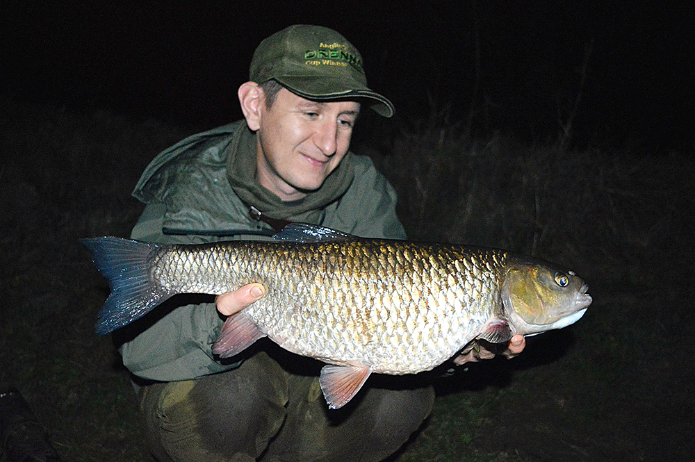 Alfie Naylor's 8lb pb chub from the River Trent.