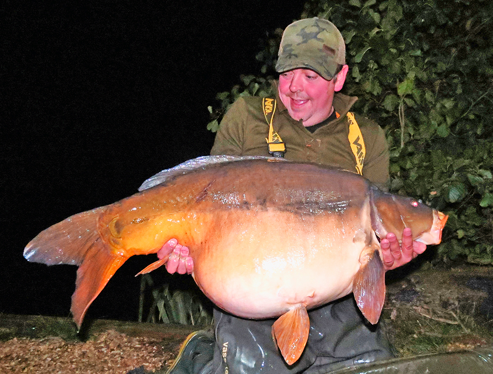 On the last night this 57lb 1oz fish graced the net.