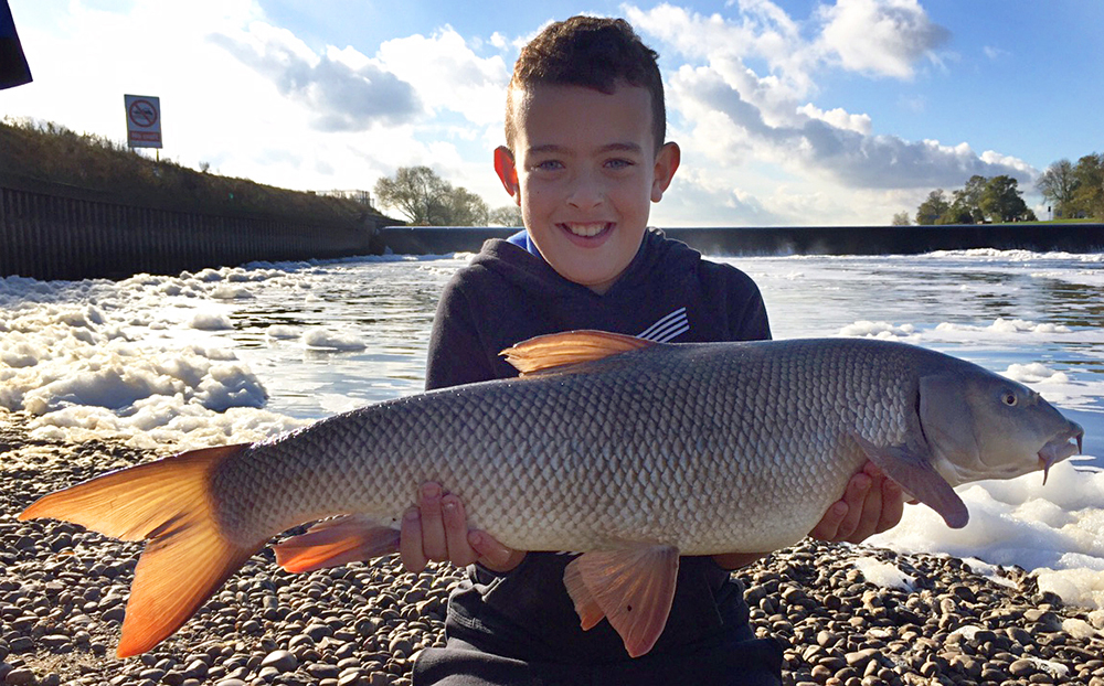 Rio's best Trent barbel went 13lb 10oz.
